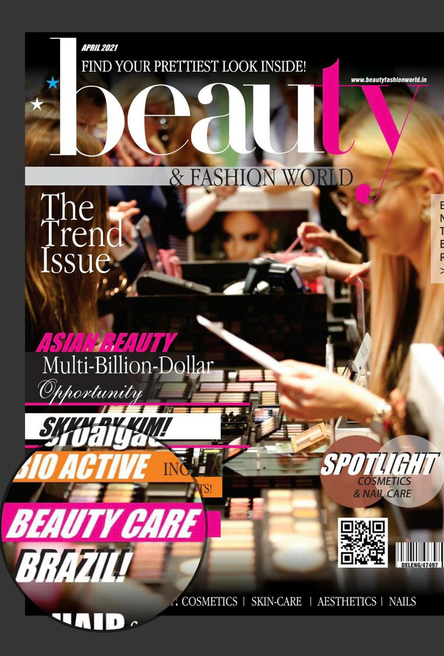 Empresas participantes do Beautycare Brazil são destaque em revista Beauty and Fashion World Magazine, da Índia